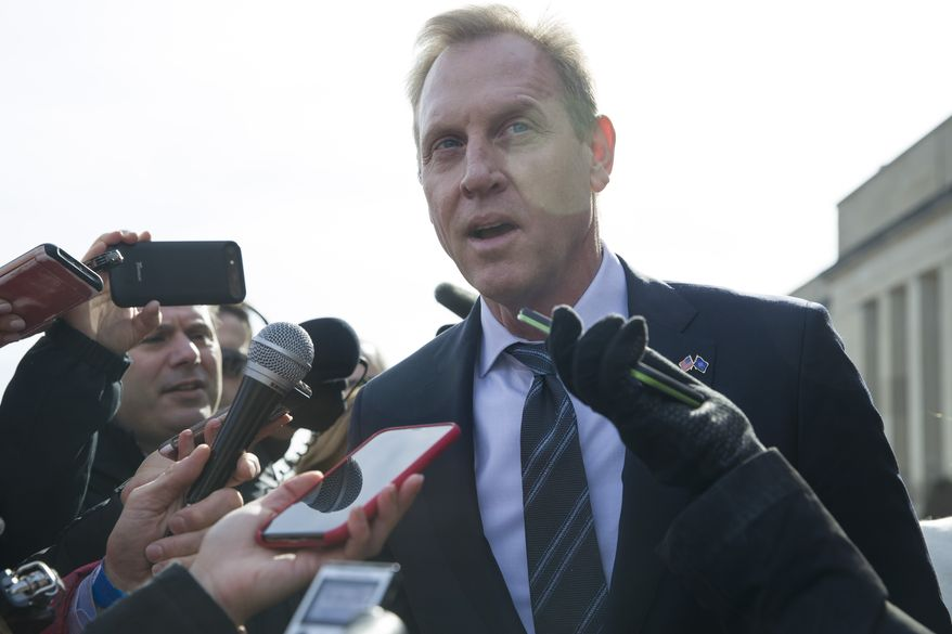 """I think I have a lot of discretion,"" said acting Defense Secretary Patrick M. Shanahan. ""I'm not required to do anything."" (Associated Press/File)"