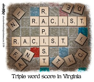 Triple word score on Virginia
