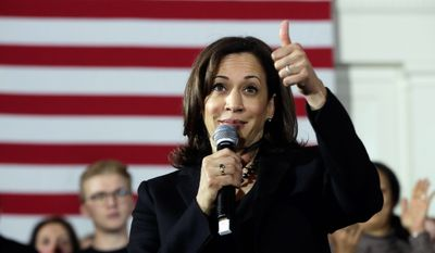 """I intend to compete in New Hampshire,"" said Sen. Kamala D. Harris. ""I intend to spend time here. I intend to shake every hand I possibly can. I want to talk with you. I want to listen to you. I want to be challenged by you,"" Ms. Harris said during her visit. (Associated Press)"