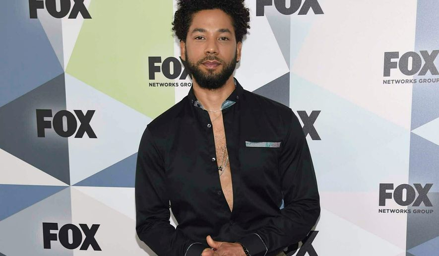 """Jussie Smollett, a cast member on """"Empire,"""" said he was attacked by two men in Chicago last month. However, holes are emerging in his story and it brings to mind stories of hoaxes that dominated the news cycle since President Trump was elected. (Associated Press Photographs)"""