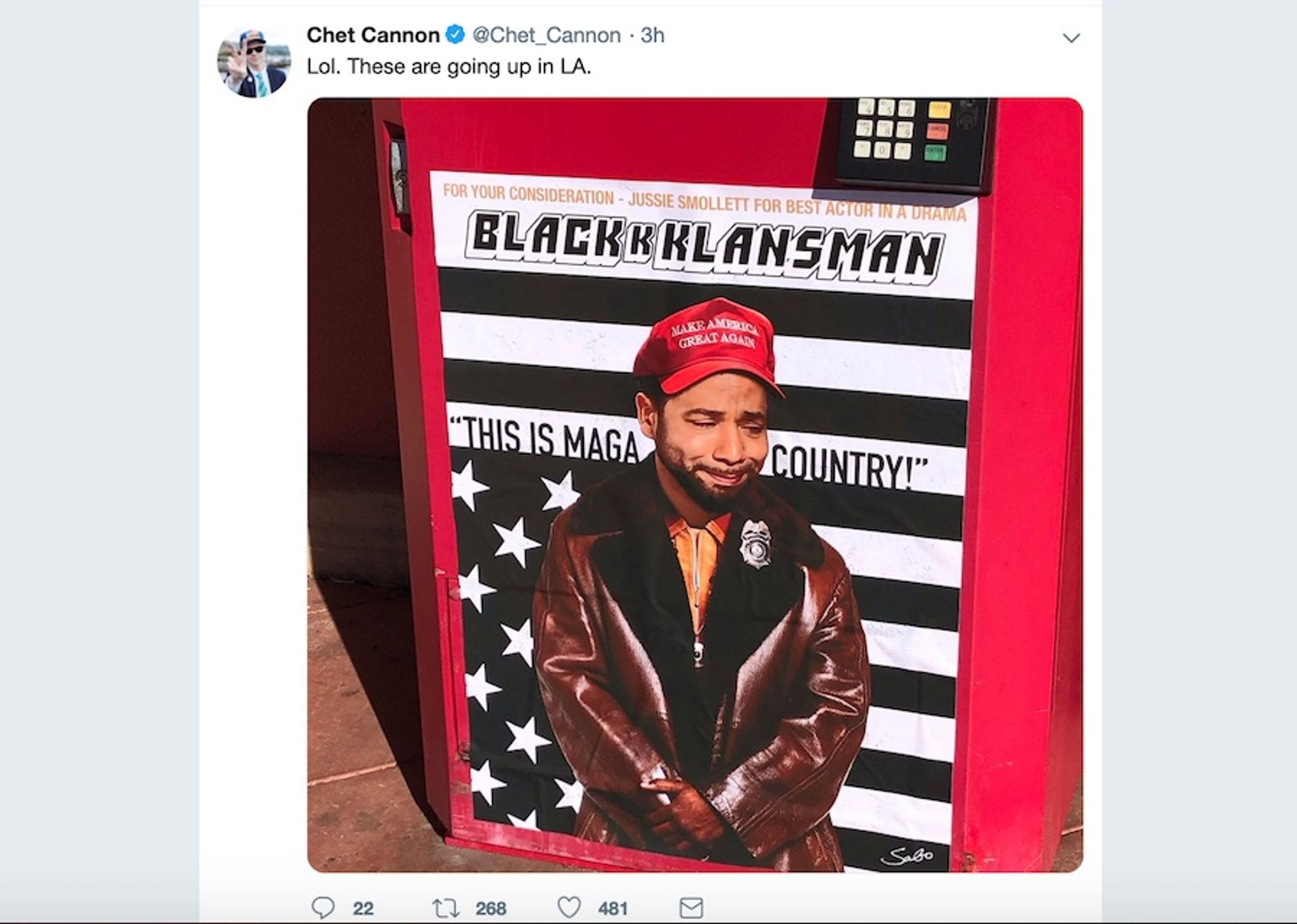 Jussie Smollett's 'MAGA country' attack story lampooned as Oscar-worthy in L.A. street art