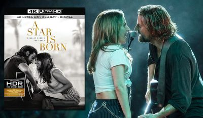 """Bradley Cooper and Lady Gaga star in """"A Star Is Born,"""" now available on 4K Ultra HD from Warner Bros. Home Entertainment."""
