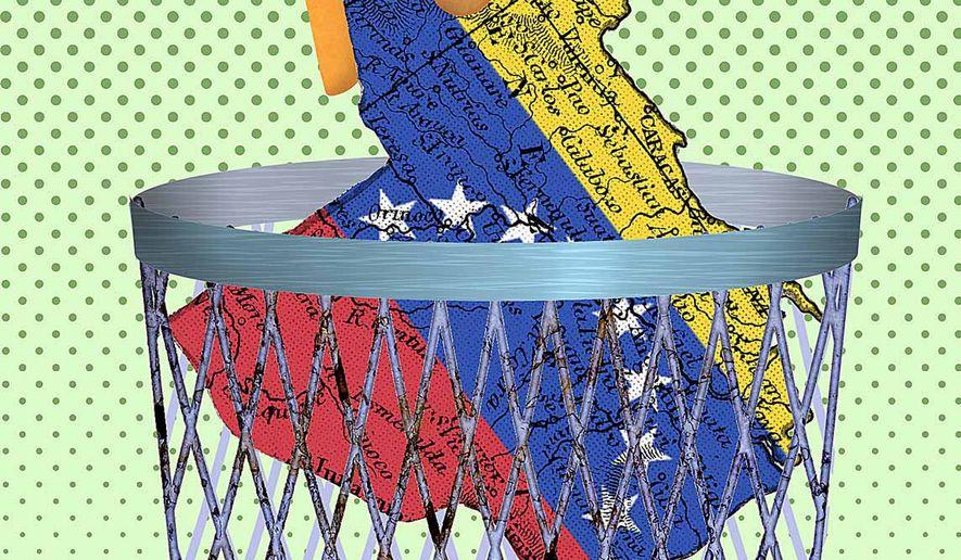 Save Venezuela Illustration by Greg Groesch/The Washington Times