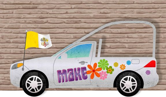 Popemobile Illustration by Greg Groesch/The Washington Times