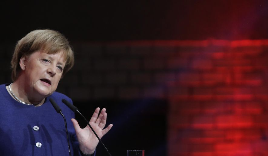 German Chancellor Angela Merkel delivers a speech during the 'Digitalising Europe Summit 2019', hosted by the Vodafone company in Berlin, Germany, Tuesday, Feb. 19, 2019. (Photo/Markus Schreiber)