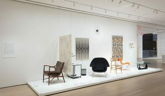 "This Feb. 6, 2019 photo shows an installation view of the exhibit ""The Value of Good Design,"" at The Museum of Modern Art in New York. The exhibit runs Feb. 10 to June 15, 2019. (John Wronn/The Museum of Modern Art via AP)"