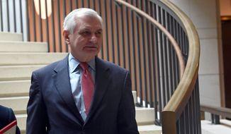 Sen. Jack Reed, D-R.I., arrives for a closed-door meeting on Capitol Hill in Washington, Tuesday, Dec. 4, 2018, on the slaying of Saudi journalist Jamal Khashoggi. (AP Photo/Susan Walsh) ** FILE **