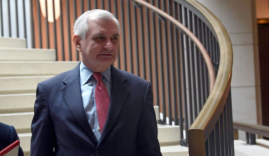 Sen. Jack Reed, D-R.I., arrives for a closed-door meeting on Capitol Hill in Washington, Tuesday, Dec. 4, 2018i. (AP Photo/Susan Walsh) ** FILE **