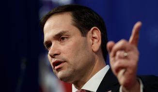 Sen. Marco Rubio, Florida Republican. (Associated Press)