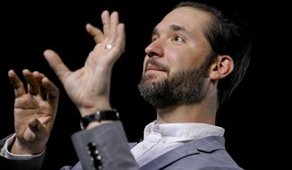 In this Tuesday, Feb. 19, 2019, photo Alexis Ohanian, founder of the social media company Reddit, speaks during an interview in New York. (AP Photo/Bebeto Matthews)