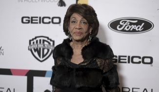 Rep. Maxine Waters, D - Calif., attends the 12th Annual ESSENCE Black Women in Hollywood Awards at the Beverly Wilshire Hotel on Thursday, Feb. 21, 2019, in Beverly Hills, Calif. (Photo by Richard Shotwell/Invision/AP)