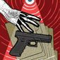 Illustration on firearm background checks by Linas Garsys/The Washington Times
