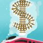 Illustration on the California high-speed rail line project by Linas Garsys/The Washington Times