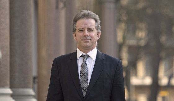 This Tuesday, March 7, 2017, file photo shows Christopher Steele, the former MI6 agent who set up Orbis Business Intelligence and compiled a dossier on Donald Trump, in London. (Victoria Jones/PA via AP) ** FILE **