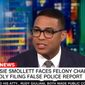 CNN's Don Lemon talks about actor Jussie Smollette with a panel of guests, Feb. 20, 2019. (Image: CNN screenshot)