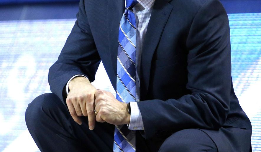 Buffalo head coach Nate Oats reacts against Ohio during the second half of an NCAA college Basketball game, Tuesday, Feb. 19, 2019, in Buffalo N.Y. (AP Photo/Jeffrey T. Barnes)