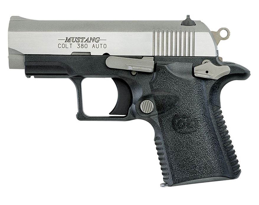 COLT MUSTANG XSP .380  is small, lightweight and boast enhanced durability, reliability and accuracy, making it an ideal handgun for personal protection. With a loaded magazine, this handgun weighs less than one pound.  Measured at 5.5 inches long and have a 2.75-inch barrel. The minimal weight and length of this guns, combined with the short single action trigger, grip design, frame designs and firing pin safety block make these firearms ideal for concealed carry
