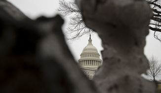 The dome of the U.S. Capitol Building in Washington is seen here on Friday, Feb. 22, 2019. (AP Photo/Andrew Harnik) **FILE**
