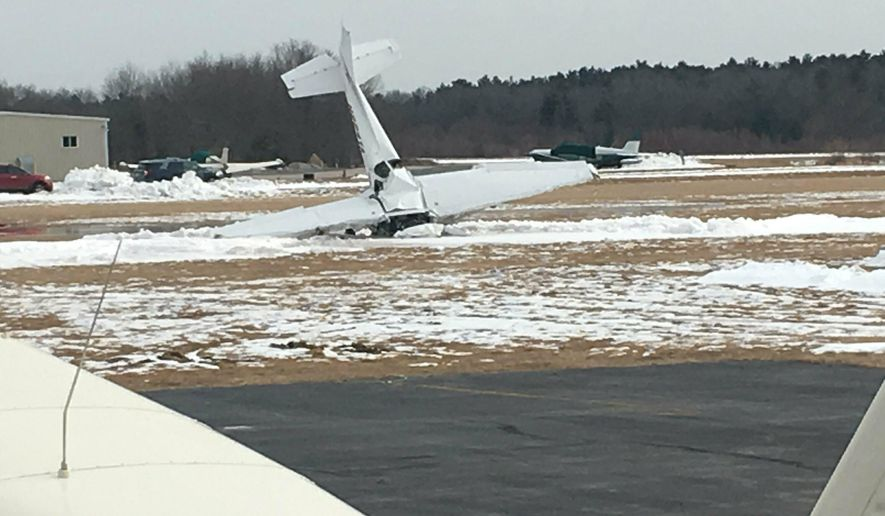 Small plane crashes at airport