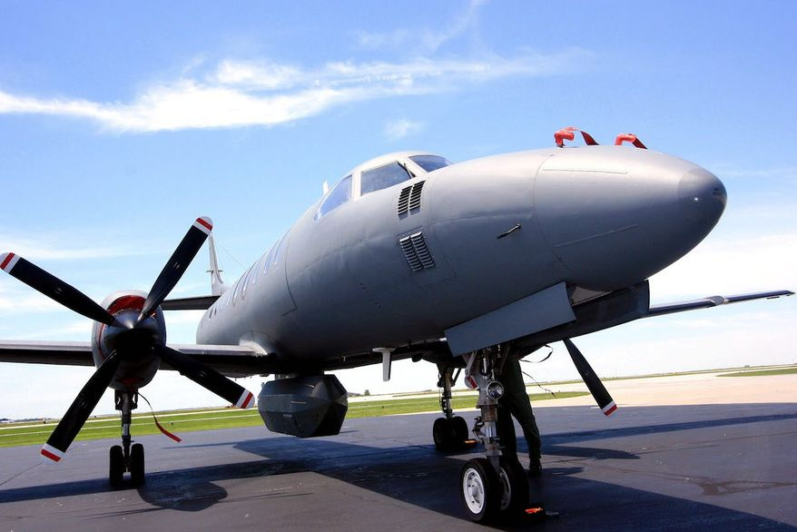 Portrait of a border bird: An RC-26 aircraft similar to those used in surveillance missions along the U.S./Mexico border (U.S. Army)