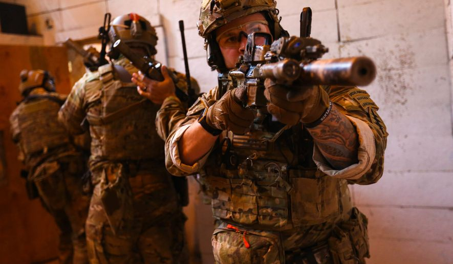 Army Green Berets are trained for lethal close-quarter combat operations and small-team interoperability, but they will need digital skills for the future of warfare. (U.S. Army)