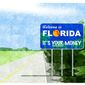 Illustration on the tax attractions of Florida by Alexander Hunter/The Washington Times