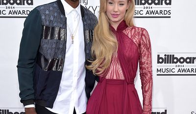 NBA player Nick Young and singer Iggy Azalea