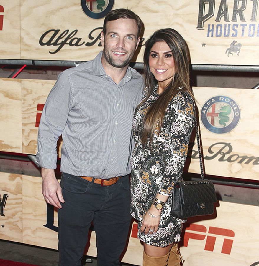 Retired NFL wide receiver Wes Welker and wife, model Anna Burns