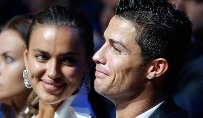 Soccer superstar Cristiano Ronaldo and supermodel Irina Shayk