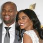 Retired NFL player Osi Umenyiora and wife, actress Leila Lopes