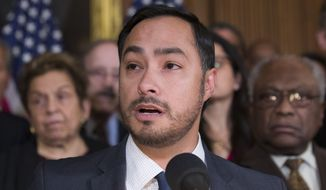 Rep. Joaquin Castro, Texas Democrat, speaks on Capitol Hill in Washington on Feb. 25, 2019. (Associated Press) **FILE**