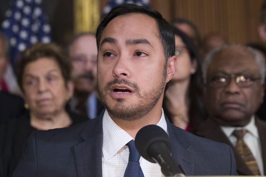 Rep. Joaquin Castro, Texas Democrat, speaks on Capitol Hill in Washington on Feb. 25, 2019. (Associated Press) **FILE**