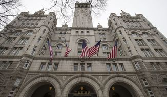 In this Jan. 4, 2019, photo, the Trump International Hotel is shown in Washington. (Associated Press) **FILE**
