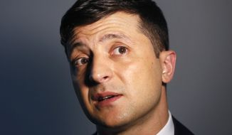 Volodymyr Zelenskiy, a comedian who is leading Ukraine's presidential election race, has urged his supporters to propose candidates for top government jobs. (Associated Press/File)