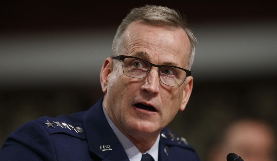 "Air Force Gen. Terrence O'Shaughnessy, who is also commander of the U.S.-Canadian North American Aerospace Command (NORAD), said Russia ""only recently developed and deployed capabilities to threaten us below the nuclear threshold."" (Associated Press/File)"