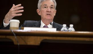 Federal Reserve Chairman Jerome Powell testifies before the Senate Banking, Housing and Urban Affairs Committee on Tuesday, Feb. 26, 2019 in Washington. (AP Photo/Kevin Wolf)