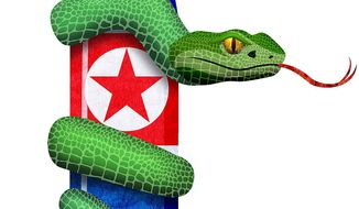 North Korean Nuclear Arms Negotiations Illustration by Greg Groesch/The Washington Times