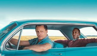 Viggo Mortensen and Mahershala Ali in a promotional image from 'The Green Book.'
