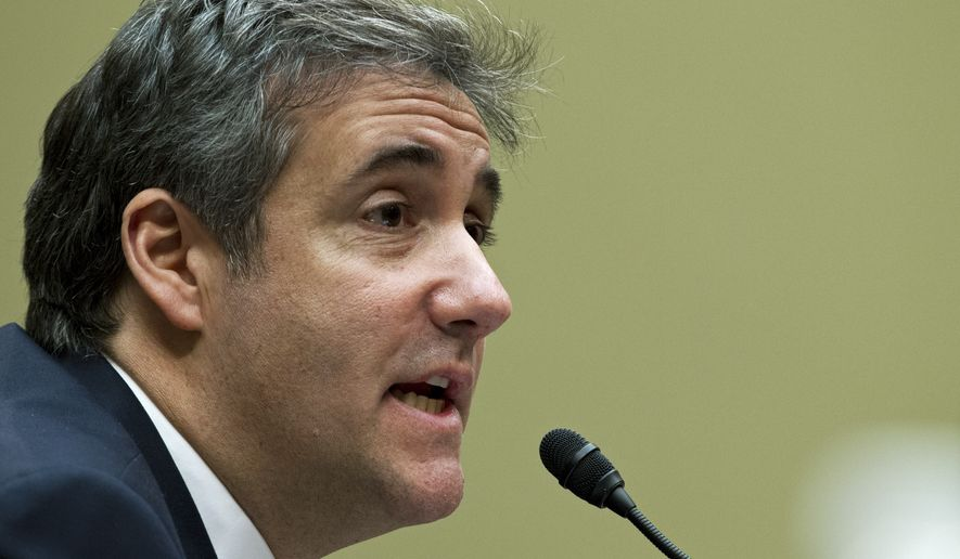 Michael Cohen, President Donald Trump's former lawyer, testifies before the House Oversight and Reform Committee, on Capitol Hill, Wednesday, Feb. 27, 2019, in Washington. (AP Photo/Jose Luis Magana)