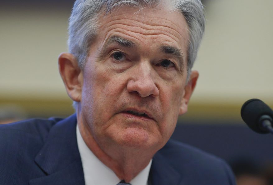 Federal Reserve Board Chair Jerome Powell testifies before the House Committee on Financial Services hearing on Capitol Hill in Washington, Wednesday, Feb. 27, 2019. (AP Photo/Pablo Martinez Monsivais)