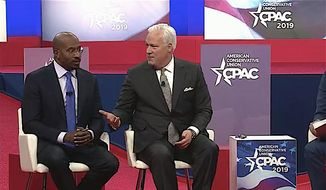 American Conservative Union chairman Matt Schlapp and CNN host Van Jones discussed criminal justice reform at CPAC Thursday. (American Conservative Union)