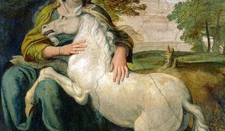 From the painting by Domenichino
