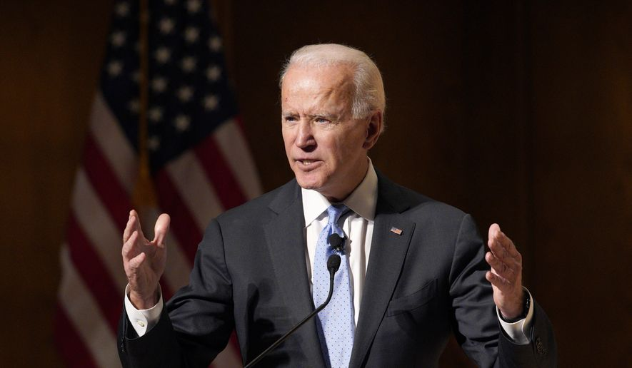 Former Vice President Joe Biden speaks at the Chuck Hagel Forum in Global Leadership, on the campus of the University of Nebraska-Omaha, in Omaha, Neb., Thursday, Feb. 28, 2019. (AP Photo/Nati Harnik) **FILE**