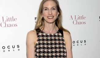 """FILE - This June 17, 2015 file photo shows Wendy Whelan at the premiere of """"A Little Chaos"""" in New York. The New York City Ballet has chosen two former dancers to lead the company after the scandal that ended with the retirement of longtime artistic director Peter Martins. The new artistic director is Jonathan Stafford. Whelan, a beloved dancer who performed with City Ballet for three decades, was named associate artistic director. (Photo by Evan Agostini/Invision/AP, File)"""