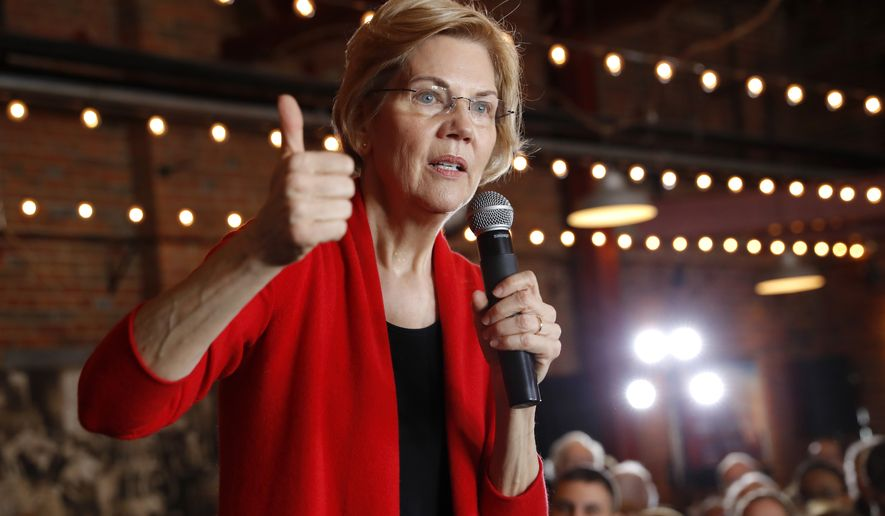 2020 Democratic presidential candidate Sen. Elizabeth Warren speaks to local residents during an organizing event, Friday, March 1, 2019, in Dubuque, Iowa. (AP Photo/Charlie Neibergall)