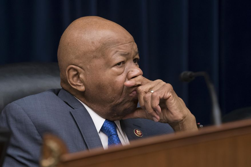 Rep. Elijah E. Cummings, the chairman of the Committee on Oversight and Reform, presides over the last hour of testimony by Michael Cohen, President Donald Trump's former personal lawyer, on Capitol Hill in Washington, Wednesday, Feb. 27, 2019. (AP Photo/J. Scott Applewhite)