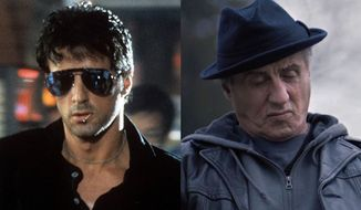 "Sylvester Stallone in ""Cobra"" and ""Creed II,"" now available on home entertainment."