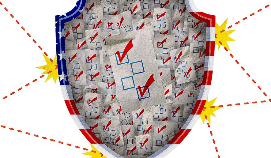 Secure Election System Illustration by Greg Groesch/The Washington Times