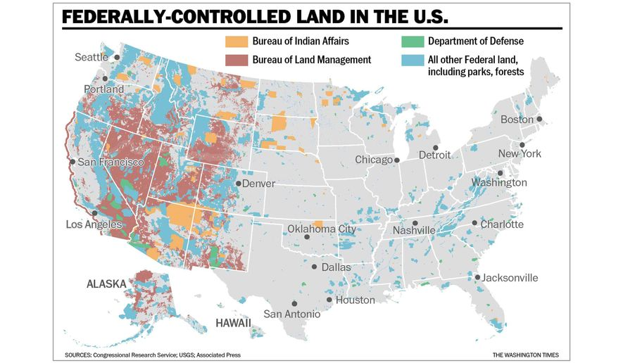 Federal Land Map to accompany Moore article of March 4, 2019.