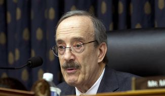 FILE - In this Wednesday, Feb. 13, 2019 file photo, House Foreign Affairs Committee Chairman Rep. Eliot Engel D-N.Y., speaks during the House Foreign Affairs subcommittee hearing on Venezuela at Capitol Hill in Washington. Engel, is working with California Rep. Adam Schiff, the top Democrat on the House Intelligence Committee, and his committee to review President Donald Trump's encounters with and connections to Russian President Vladimir Putin, including a private meeting between the two in Helsinki last year. Trump would not disclose the full details of what was said in their meeting. (AP Photo/Jose Luis Magana, File)